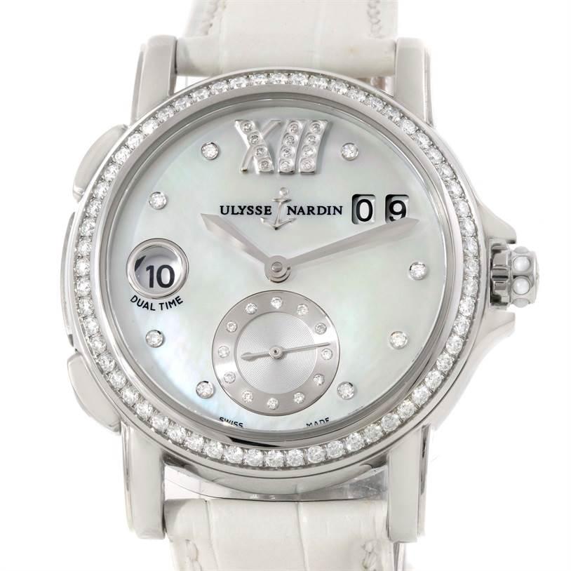 Photo of Ulysse Nardin Big Date GMT Ladies Steel Watch 243-22B Unworn