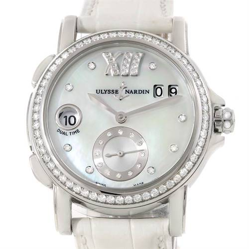 Photo of Ulysse Nardin Big Date GMT Ladies Steel Watch 243-22B Unworn