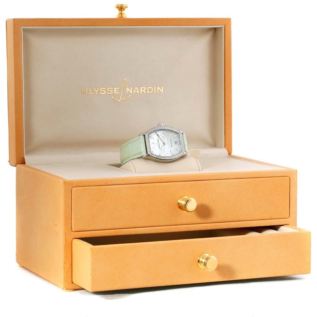 Ulysse Nardin Michelangelo Midsize Steel Diamond Watch 113-48 SwissWatchExpo