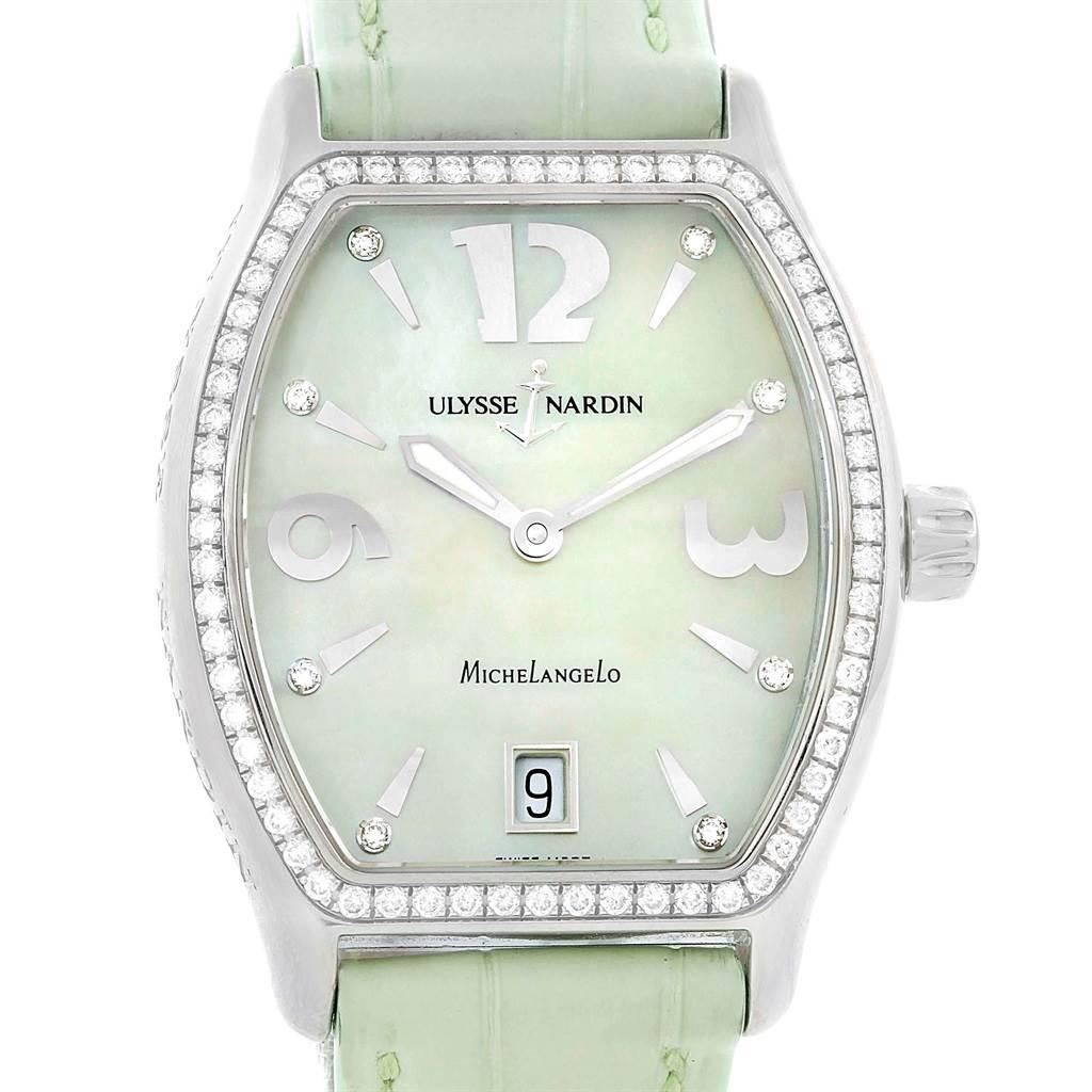 Photo of Ulysse Nardin Michelangelo Midsize Steel Diamond Watch 113-48