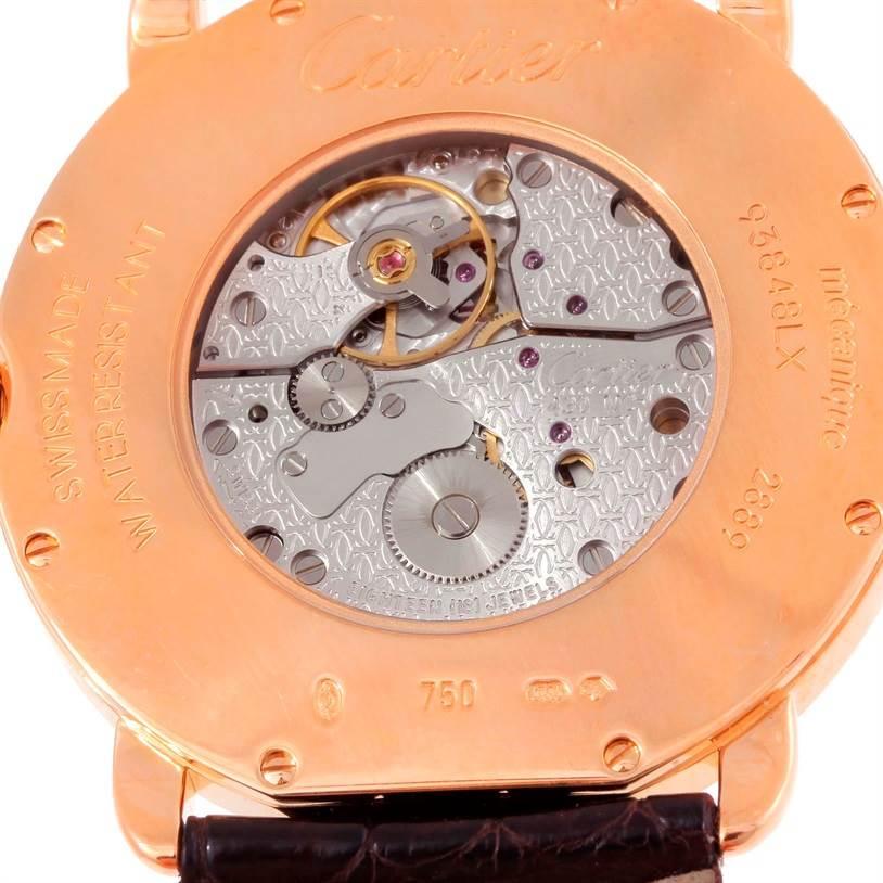 10024 Cartier Ronde Louis 18K Rose Gold Mens Watch W6800251 SwissWatchExpo