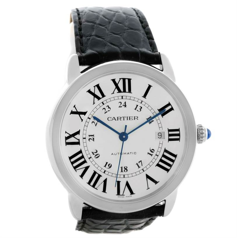10654 Cartier Ronde Solo Automatic Steel Mens Watch W6701010 Unworn SwissWatchExpo