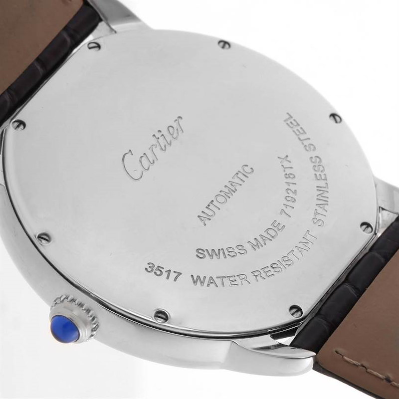 Cartier Ronde Solo Automatic Stainless Steel Mens Watch W6701010 SwissWatchExpo
