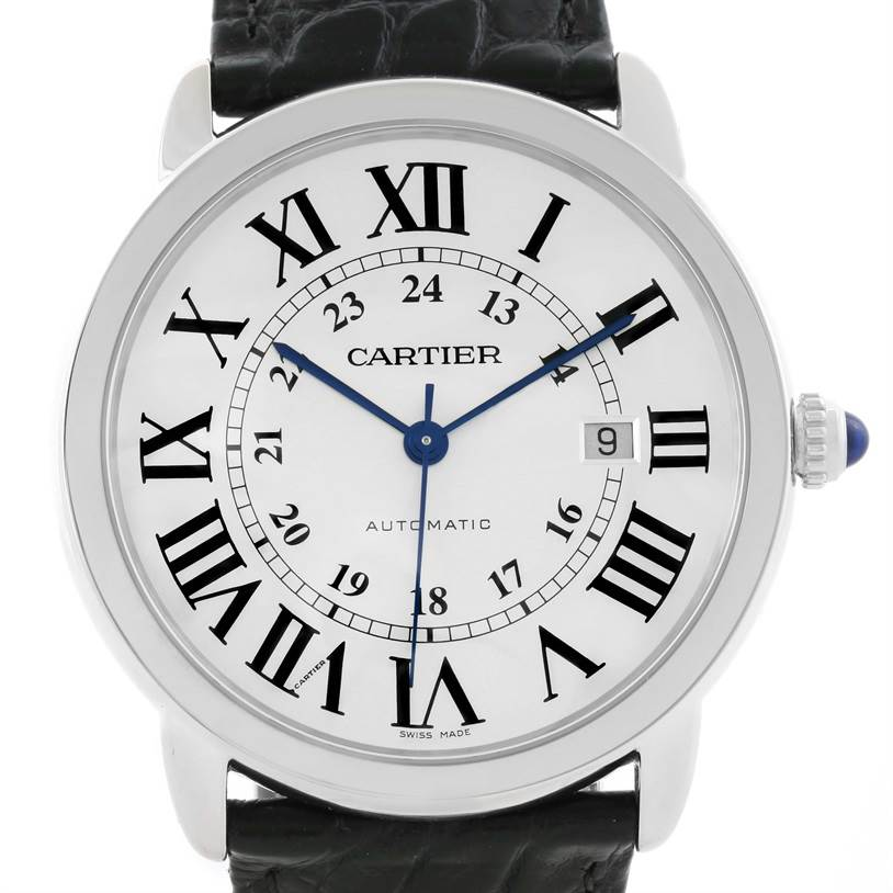 11607 Cartier Ronde Solo Automatic Stainless Steel Mens Watch W6701010 SwissWatchExpo