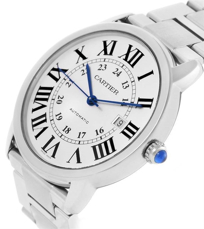 Cartier Ronde Solo Automatic Stainless Steel Mens Watch W6701011 SwissWatchExpo