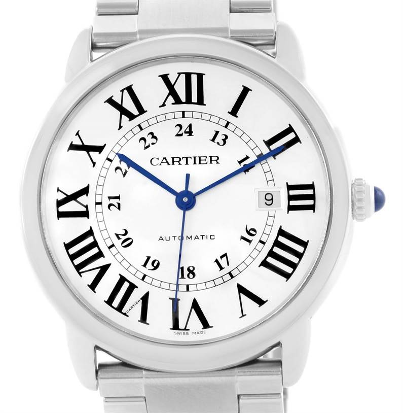11939 Cartier Ronde Solo Automatic Stainless Steel Mens Watch W6701011 SwissWatchExpo