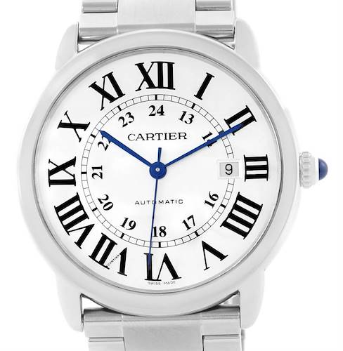 Photo of Cartier Ronde Solo Automatic Stainless Steel Mens Watch W6701011