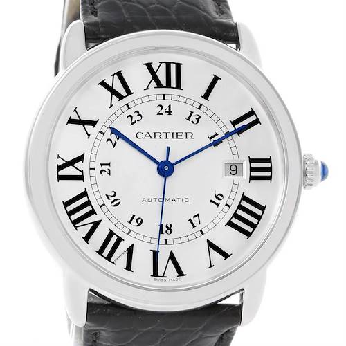 Photo of Cartier Ronde Solo Silver Dial Automatic Steel Date Watch W6701010