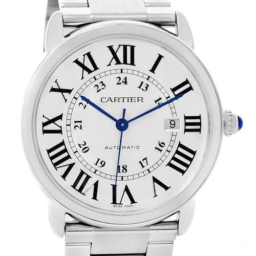 Photo of Cartier Ronde Solo Automatic Steel Date Mens Watch W6701011