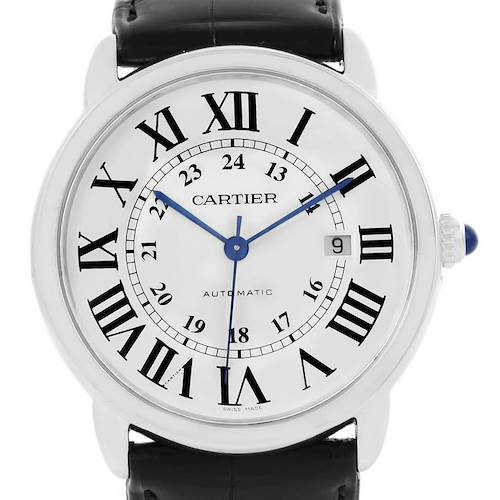 Photo of Cartier Ronde Solo Silver Dial Stainless Steel Date Watch W6701010
