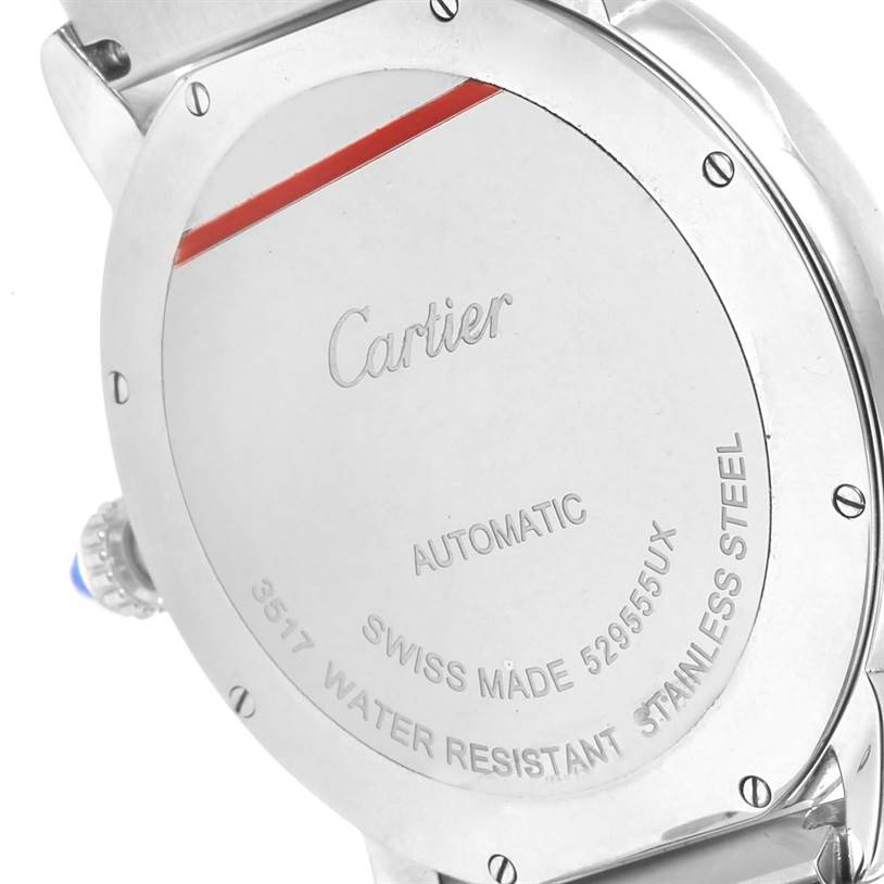 13050 Cartier Ronde Solo Automatic Steel Mens Watch W6701011 Box Papers SwissWatchExpo