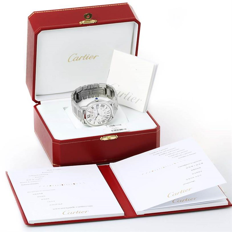 Cartier Ronde Solo Automatic Steel Mens Watch W6701011 Box Papers SwissWatchExpo