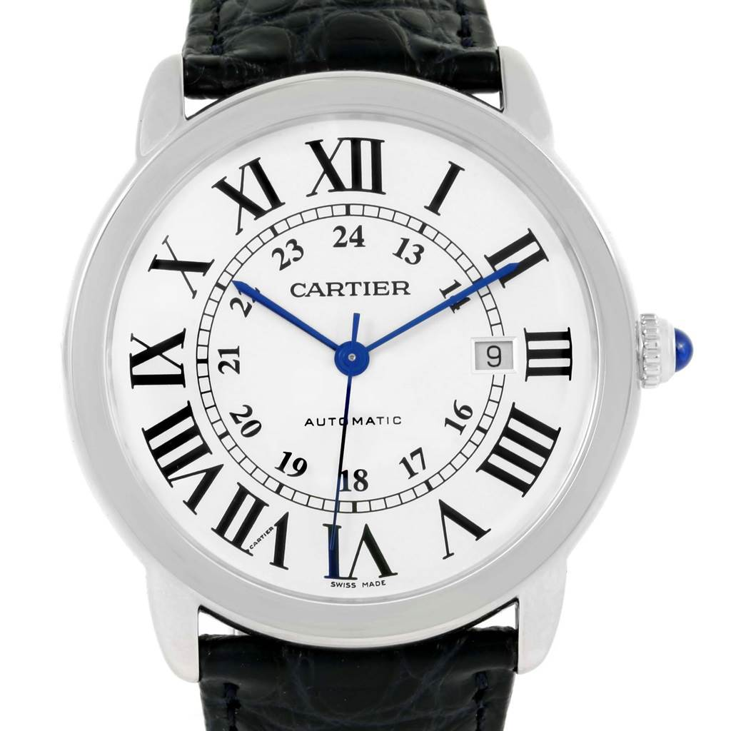 Cartier Ronde Solo XL Silver Dial Steel Watch W6701010 Box Papers SwissWatchExpo
