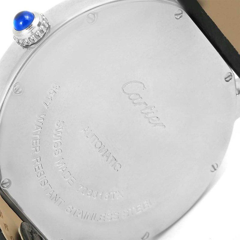 Cartier Ronde Solo XL Silver Dial Stainless Steel Date Watch W6701010 SwissWatchExpo