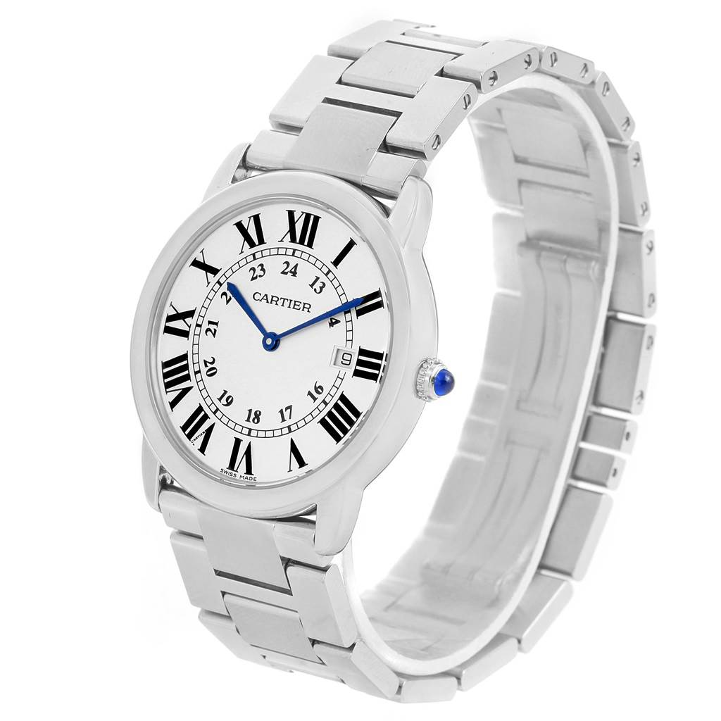 14019 Cartier Ronde Solo Large Stainless Steel Mens Watch W6701005 SwissWatchExpo