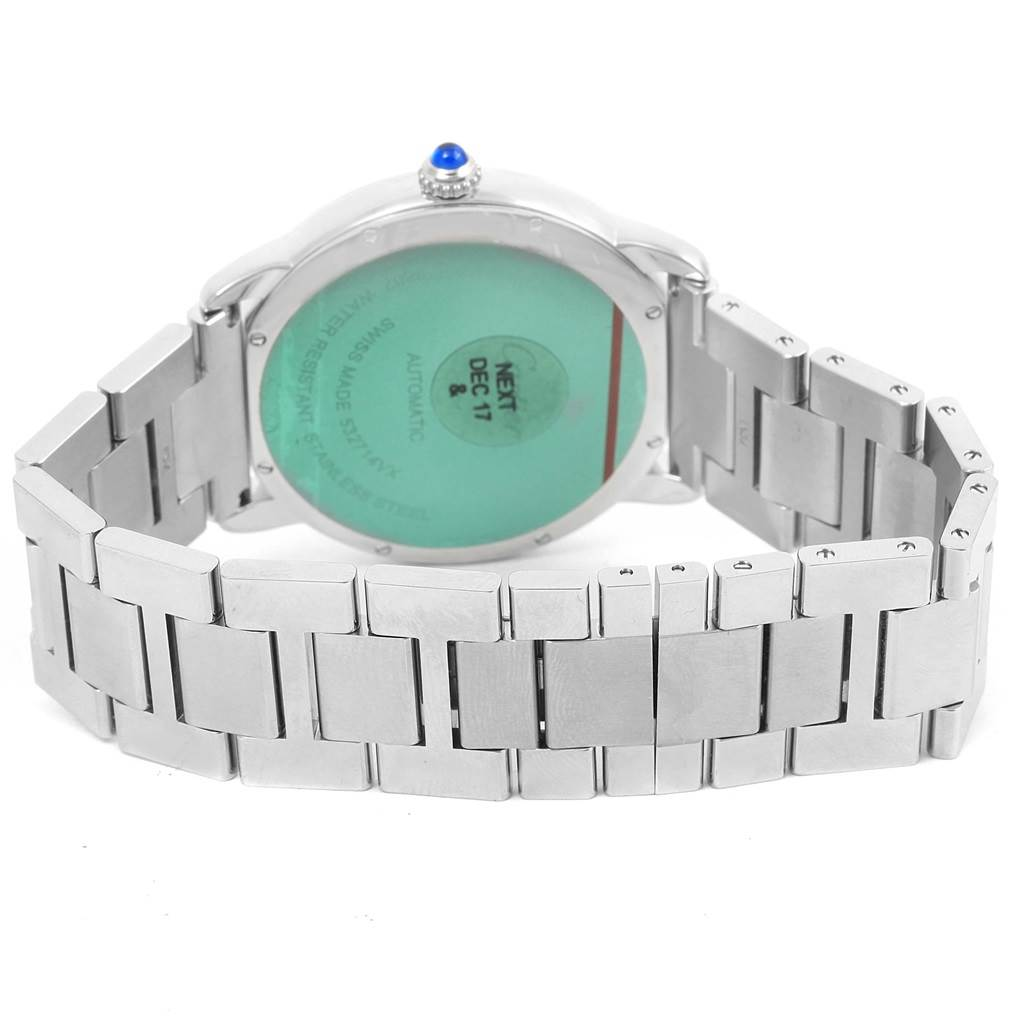 14411 Cartier Ronde Solo Automatic Steel Mens Watch W6701011 Box Papers SwissWatchExpo