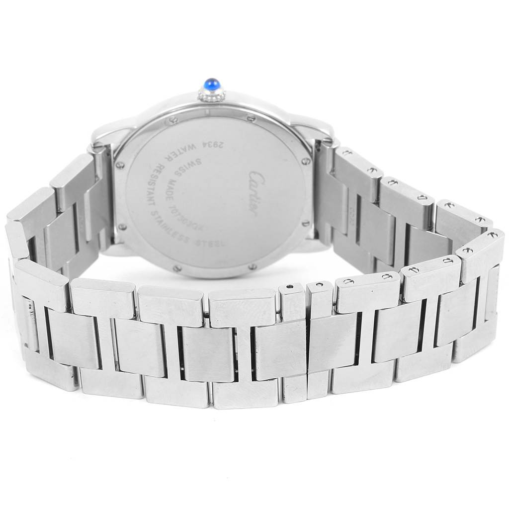 Cartier Ronde Solo Large Stainless Steel Mens Watch W6701005 SwissWatchExpo