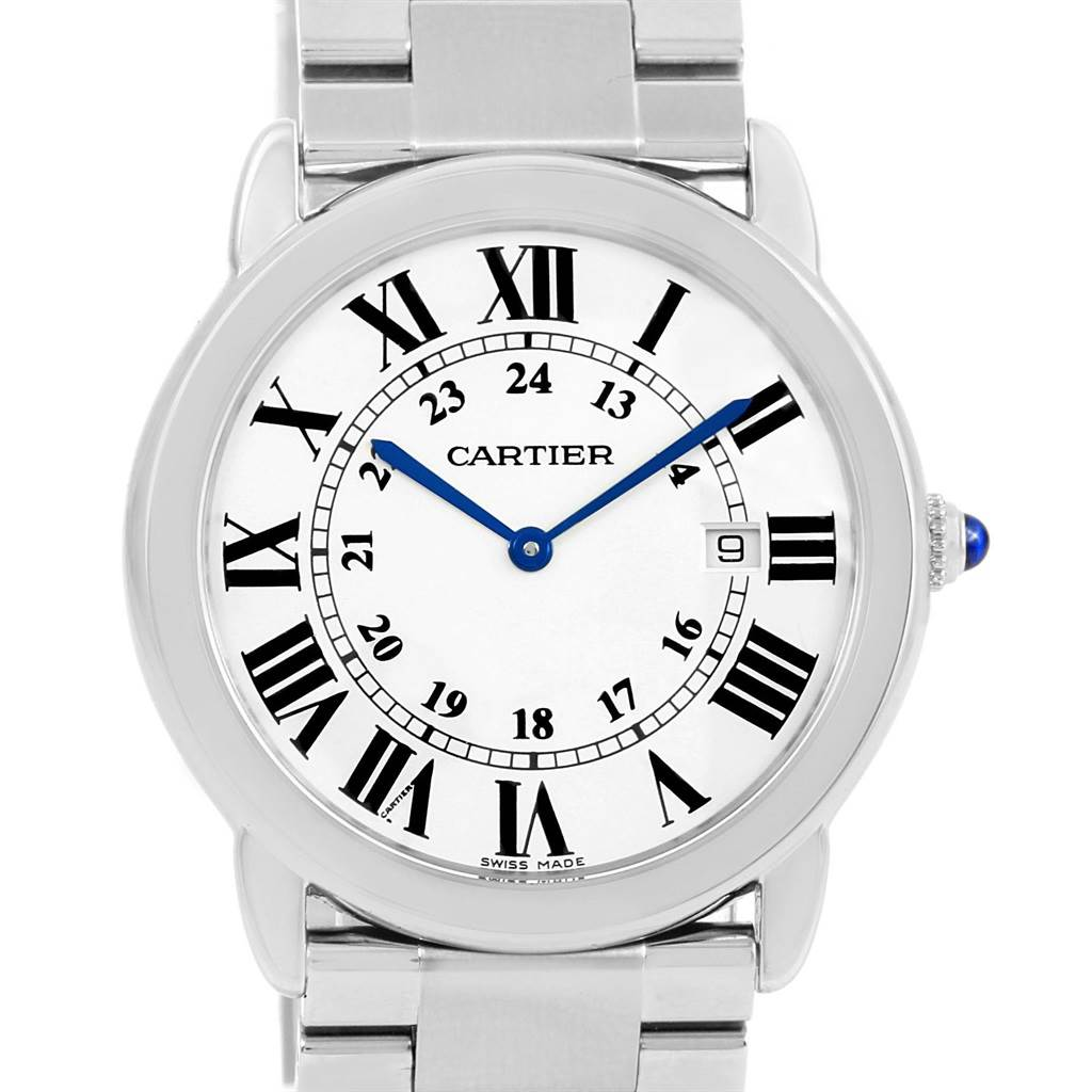 15069 Cartier Ronde Solo Large Stainless Steel Mens Watch W6701005 SwissWatchExpo