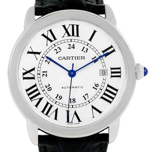 Photo of Cartier Ronde Solo XL Silver Dial Stainless Steel Date Watch W6701010
