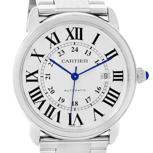 Photo of Cartier Ronde Solo Automatic Steel Mens Watch W6701011