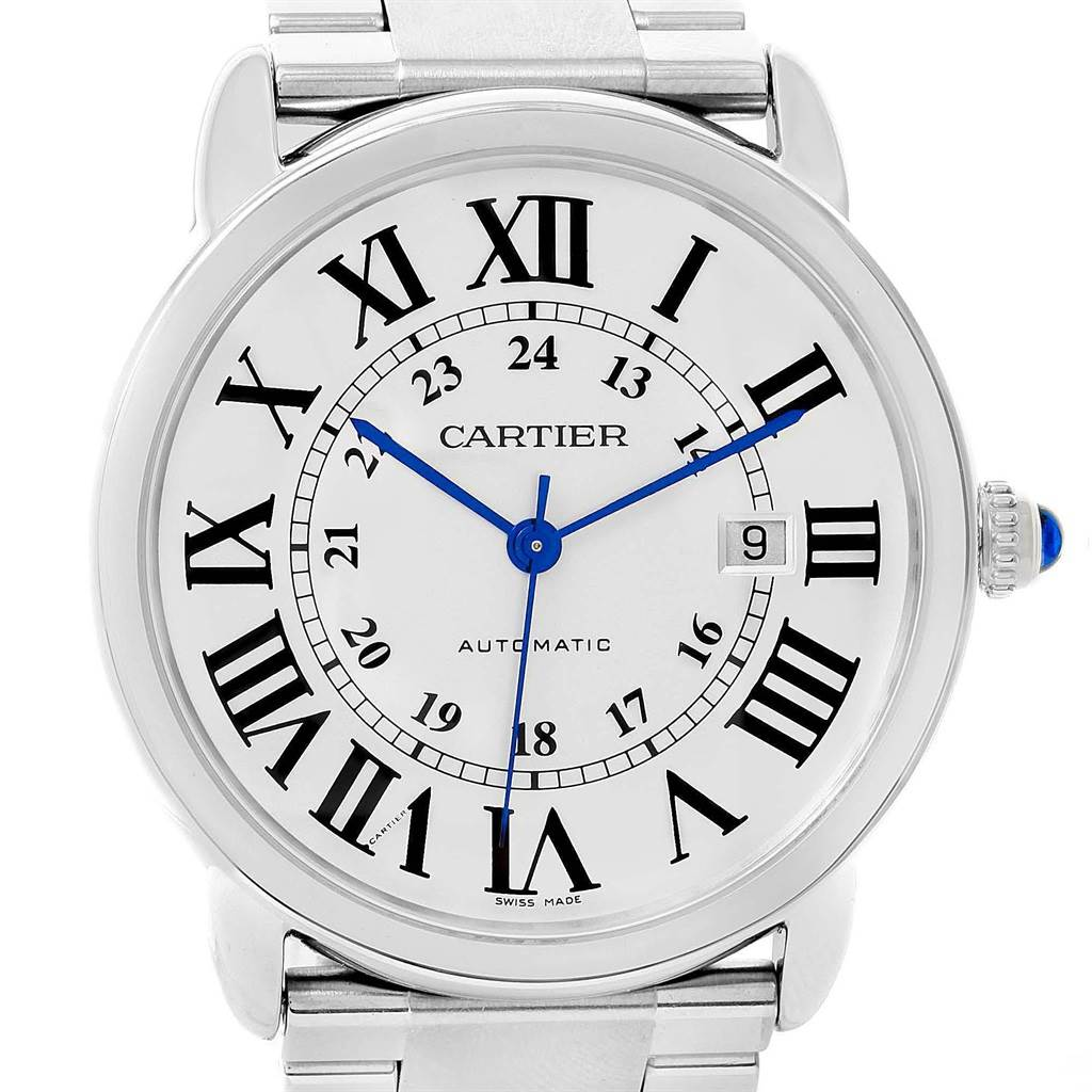 Cartier Ronde Solo XL Automatic Steel Mens Watch W6701011 Unworn SwissWatchExpo