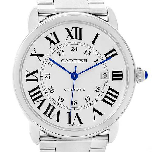 Photo of Cartier Ronde Solo XL Automatic Steel Mens Watch W6701011 Box Papers