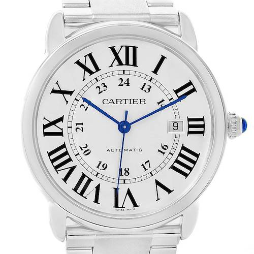 Photo of Cartier Ronde Solo XL Automatic Mens Watch W6701011 Box Papers