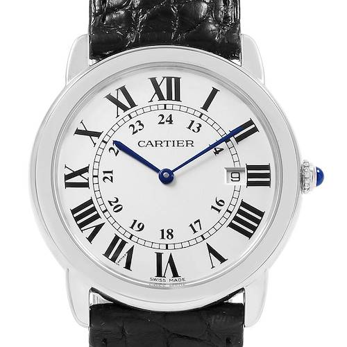 Photo of Cartier Ronde Solo Large Steel Silver Dial Unisex Watch W6700255