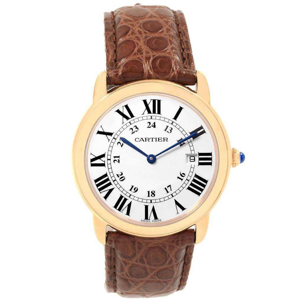 Cartier Ronde Solo 36mm Large Yellow Gold Steel Unisex Watch W6700455 SwissWatchExpo