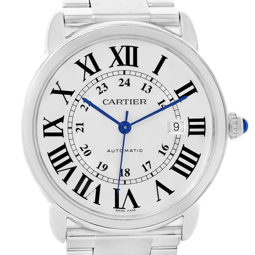 20891 Cartier Ronde Solo XL Automatic Steel Mens Watch W6701011 SwissWatchExpo