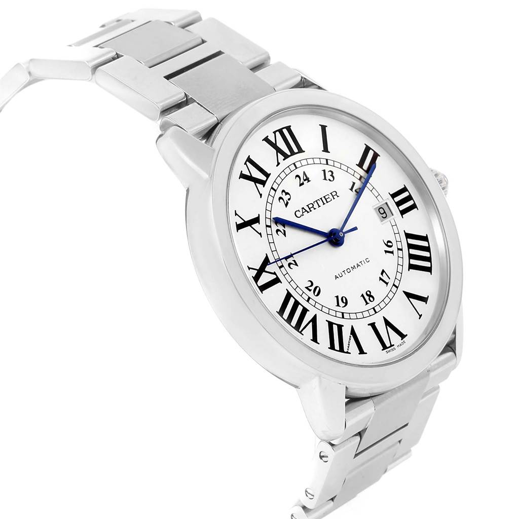 20904 Cartier Ronde Solo XL Automatic Steel Mens Watch W6701011 SwissWatchExpo