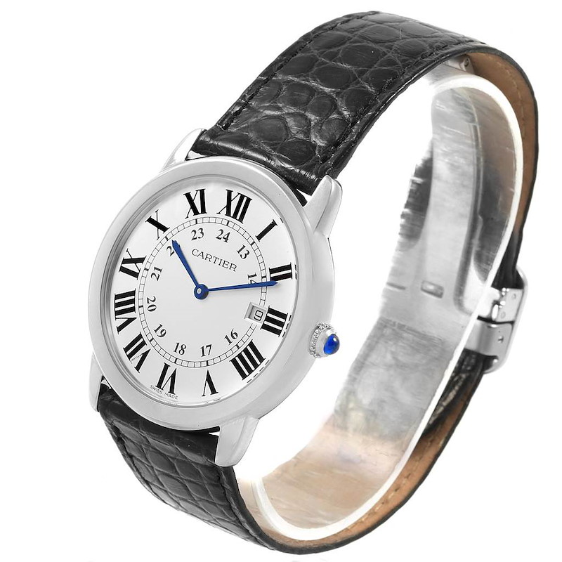 Cartier Ronde Solo Large Steel Silver Dial Unisex Watch W6700255 SwissWatchExpo