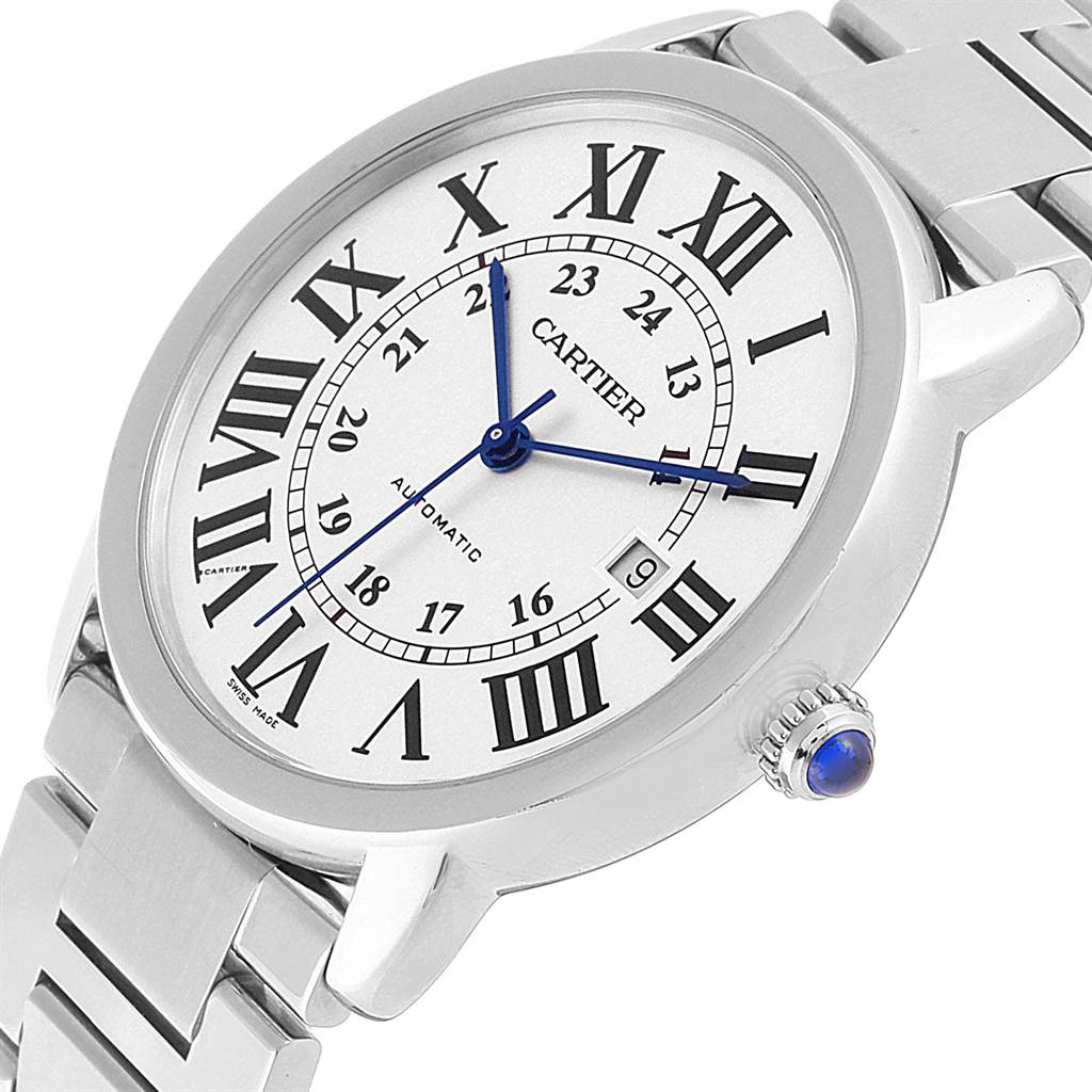 22456 Cartier Ronde Solo XL Automatic Steel Mens Watch W6701011 SwissWatchExpo
