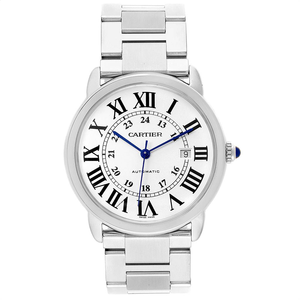 Cartier Ronde Solo XL Automatic Steel Mens Watch W6701011 SwissWatchExpo