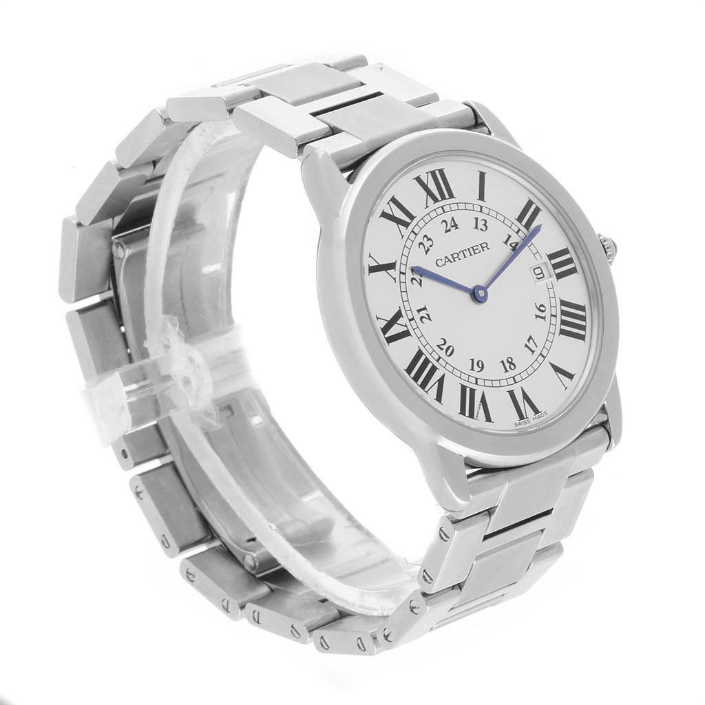 22457 Cartier Ronde Solo Large Stainless Steel Mens Watch W6701005 SwissWatchExpo