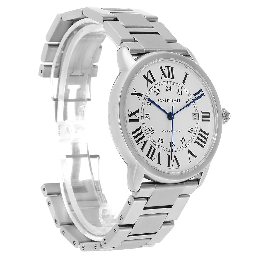 23373 Cartier Ronde Solo XL 42mm Automatic Steel Mens Watch W6701011 SwissWatchExpo