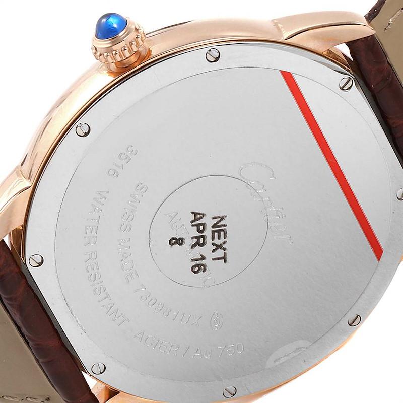 Cartier Ronde Solo XL Rose Gold Steel Mens Watch W6701009 Unworn SwissWatchExpo