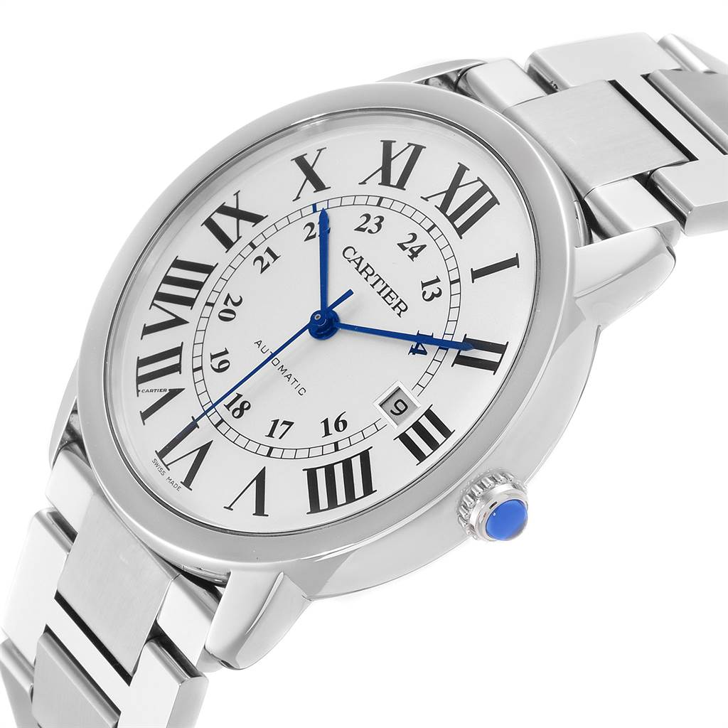 23750 Cartier Ronde Solo XL 42 Automatic Steel Mens Watch W6701011 Box Papers SwissWatchExpo