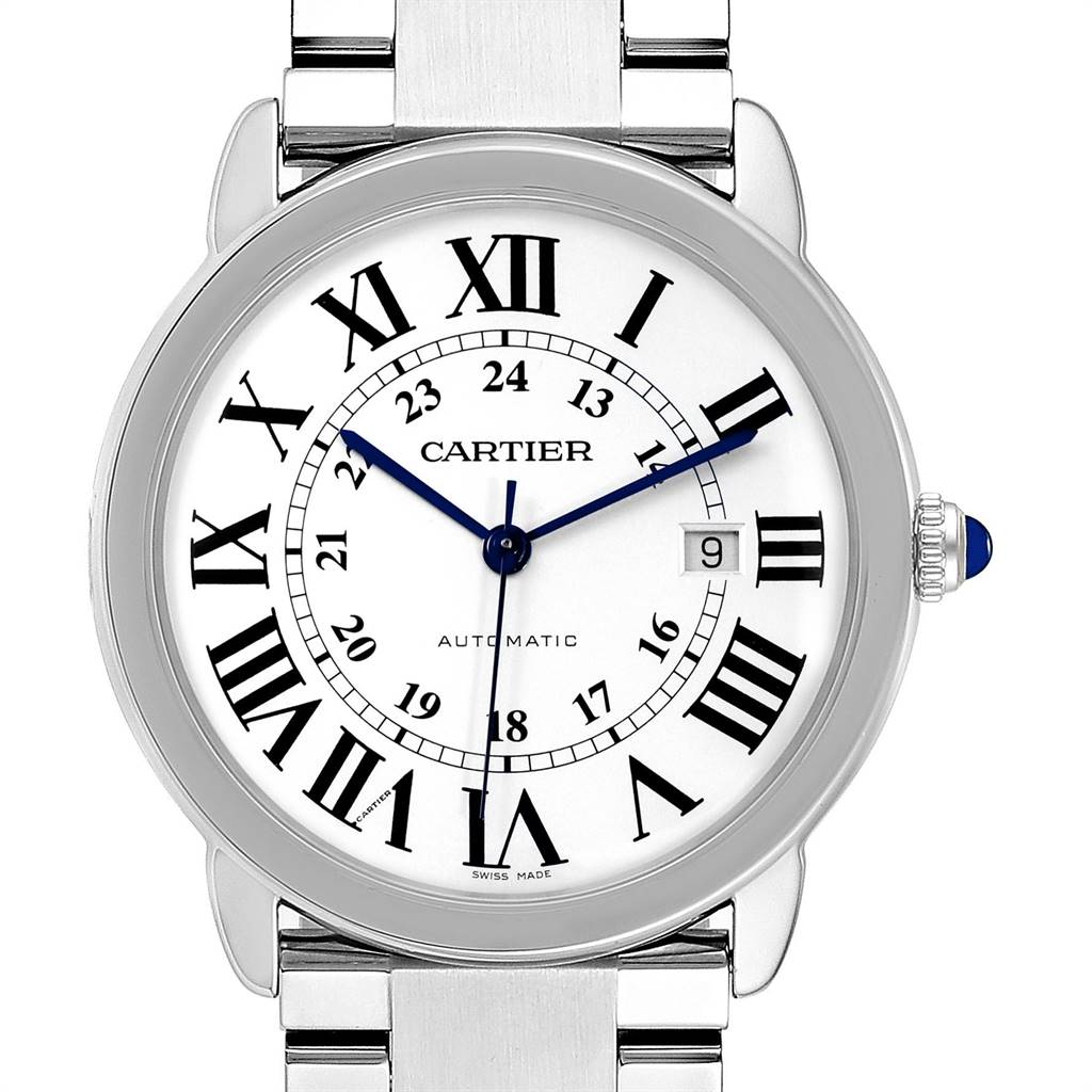 24130 Cartier Ronde Solo XL 42mm Automatic Steel Mens Watch W6701011 SwissWatchExpo