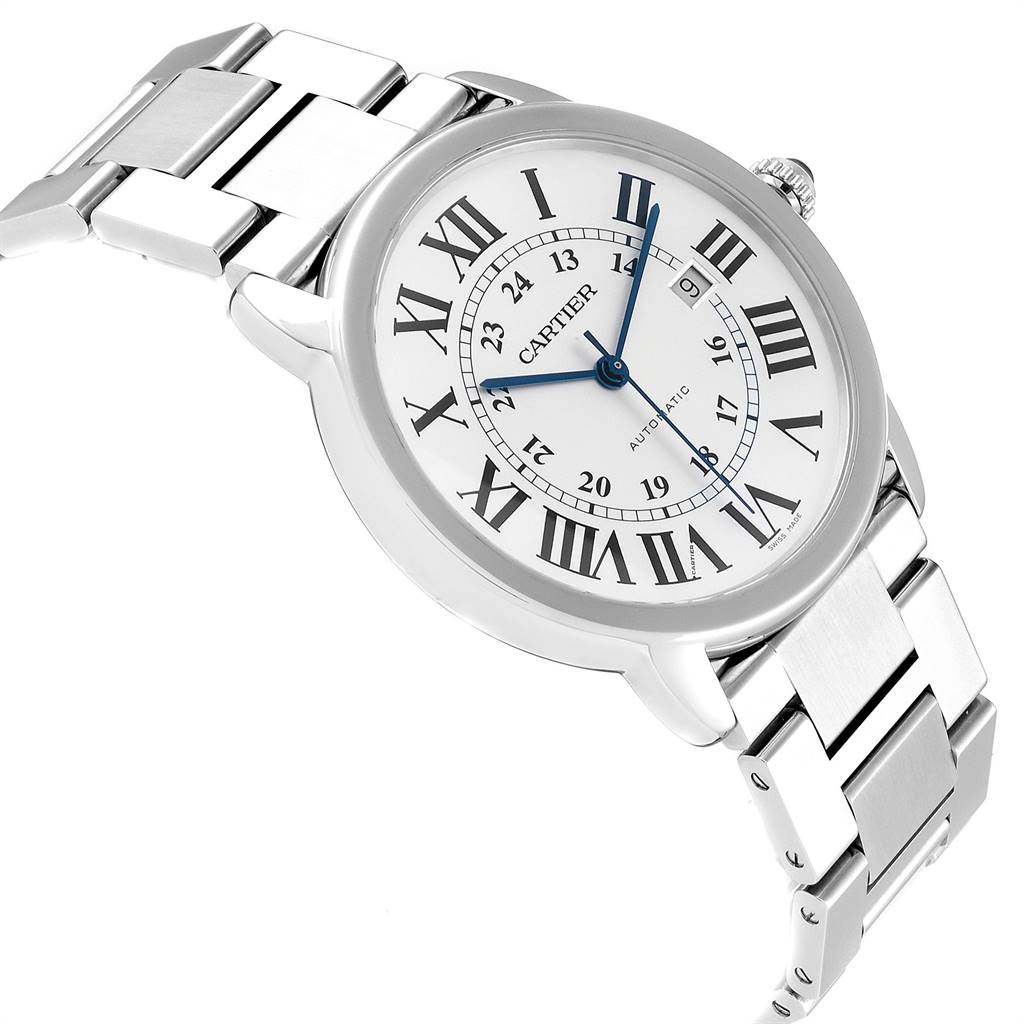 Cartier Ronde Solo XL 42mm Automatic Steel Mens Watch W6701011 SwissWatchExpo