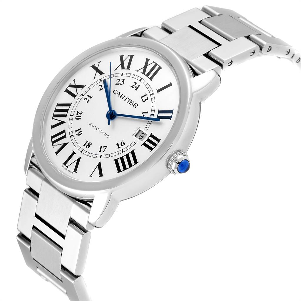 24697 Cartier Ronde Solo XL 42mm Automatic Steel Mens Watch W6701011 SwissWatchExpo