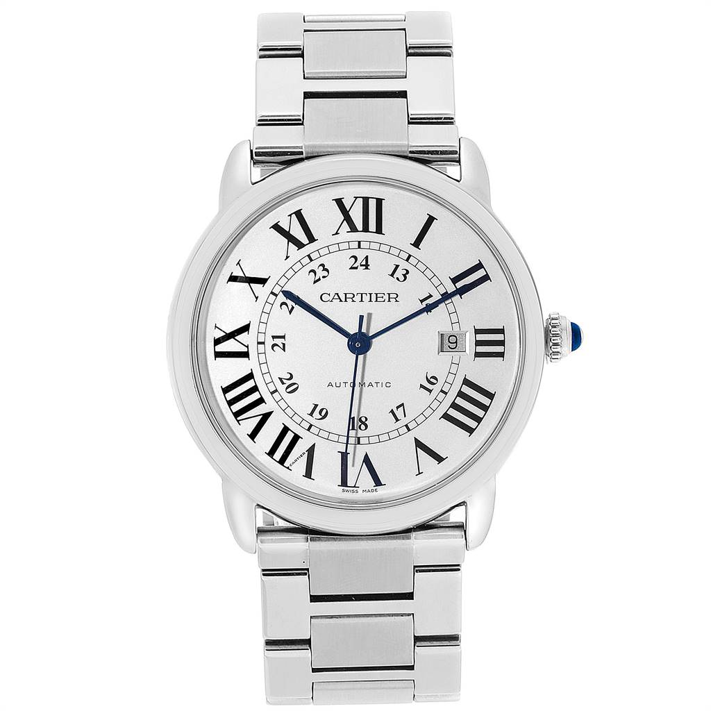 25229 Cartier Ronde Solo XL 42mm Automatic Steel Mens Watch W6701011 SwissWatchExpo