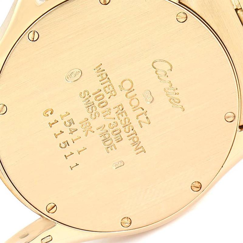 Cartier Santos Ronde 18K Yellow Gold Unisex Watch W20028G1 SwissWatchExpo
