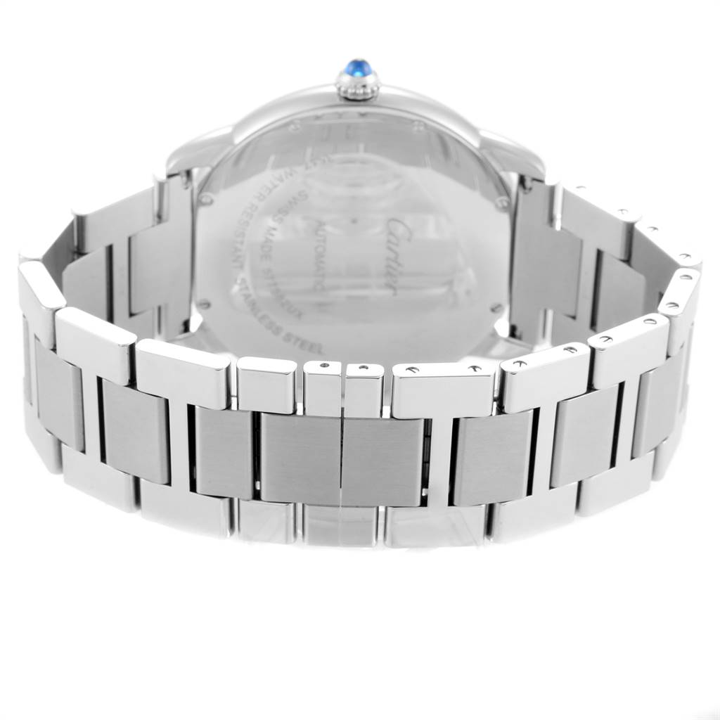 Cartier Ronde Solo XL Automatic Steel Mens Watch W6701011 Box Papers SwissWatchExpo