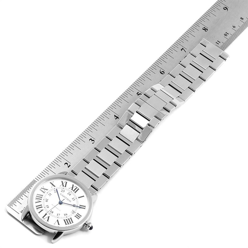 Cartier Ronde Solo XL Silver Dial Automatic Steel Mens Watch W6701011 SwissWatchExpo