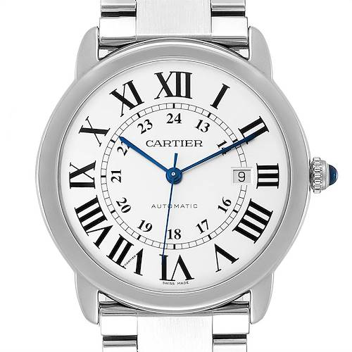 Photo of Cartier Ronde Solo XL Silver Dial Automatic Steel Mens Watch W6701011