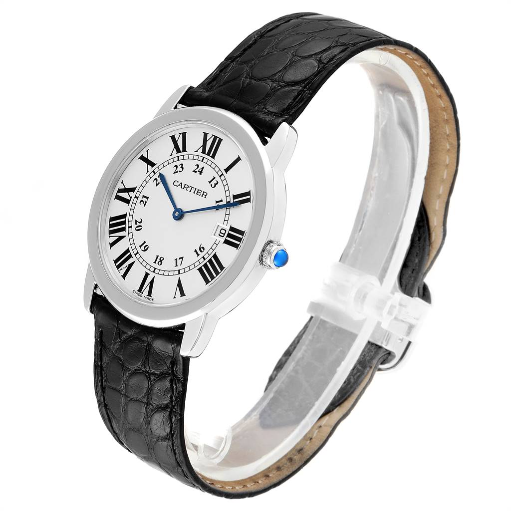 Cartier Ronde Solo Large Steel Unisex Watch W6700255 Box Papers SwissWatchExpo