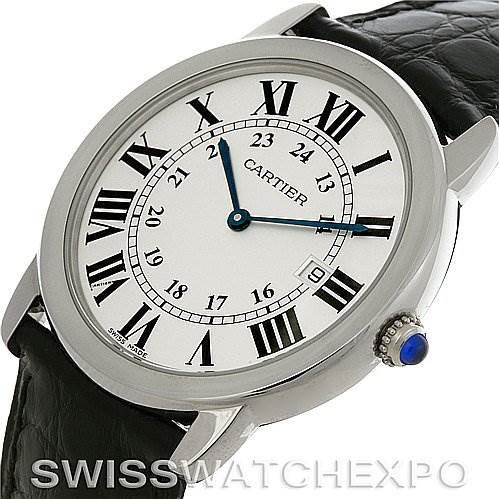 Cartier Ronde Stainless Steel Men's Watch 6700255 Unworn Year 2011 SwissWatchExpo