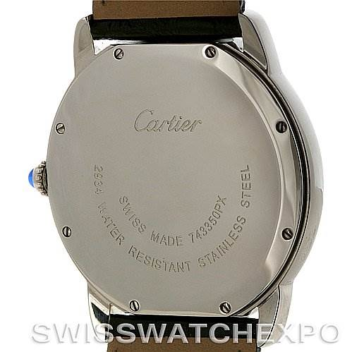 4105 Cartier Ronde Stainless Steel Men's Watch 6700255 Unworn Year 2011 SwissWatchExpo