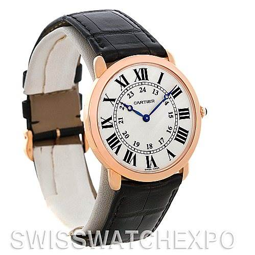 Cartier Ronde Louis 18K Rose Gold Mens Watch W6800251 SwissWatchExpo